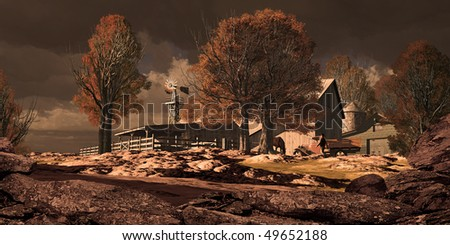 Horse Ranch In The Southwest - stock photo