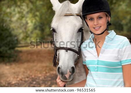 Horse ride - stock photo