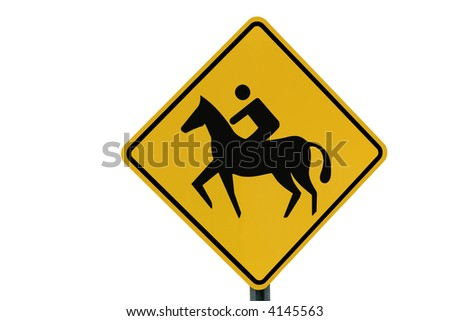 Horse Road Sign Horse Rider Crossing Sign