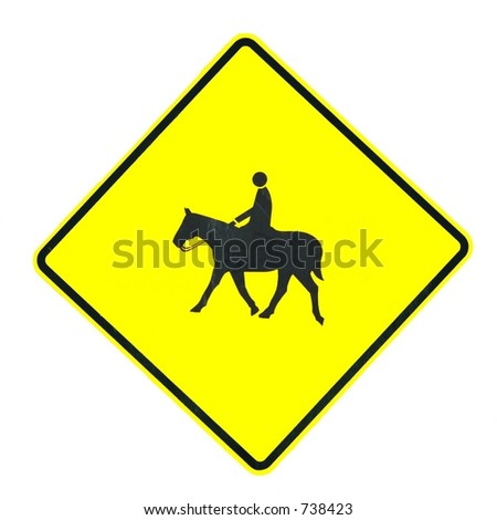 Horse Crossing Sign Horse Rider Crossing Sign