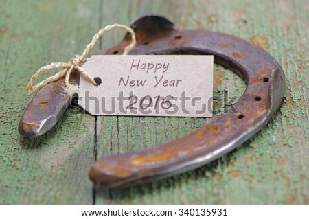 horse shoe as talisman for new year 2016