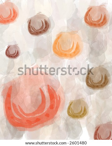 Horse Shoe -Design made from stamped scans of watercolor paintings - stock photo