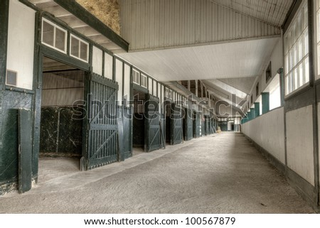 Horse stables - stock photo