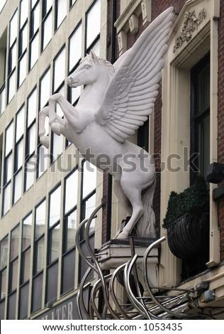 horse statue - stock photo