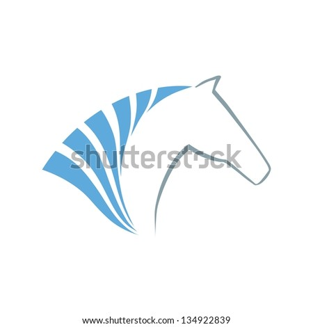 Horse symbol. Abstact symbol. Corporate icon. - stock photo