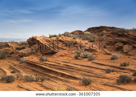 Horseshoe Bend. Arizona Rock (Arizona - EEUU) - stock photo