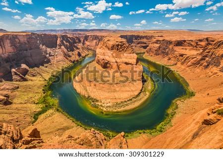 Horseshoe Bend, AZ - stock photo