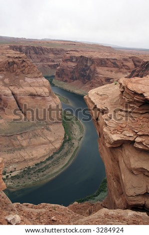 Horseshoe Bend located just a few miles out of Page, Arizona