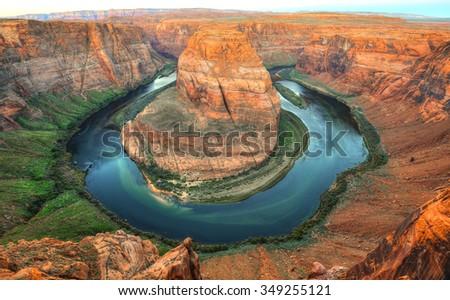 horseshoe bend, page, arizona, united states - stock photo