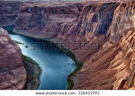 Horseshoe Bend, Paige, Arizona - stock photo