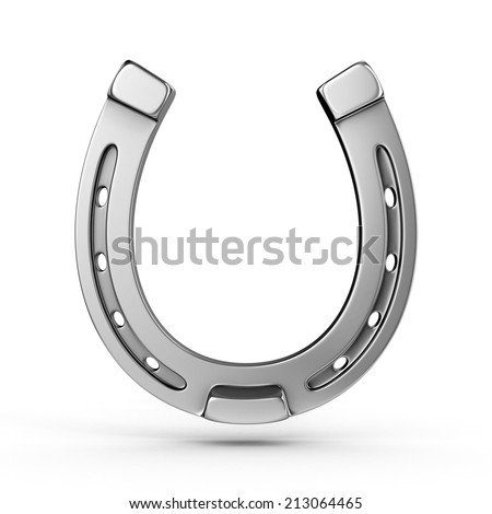 horseshoe 3d illustration  - stock photo