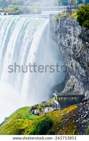 Horseshoe Fall, Niagara Falls, Ontario, Canada - stock photo