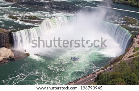 Horseshoe Falls, Niagara, Canada - stock photo