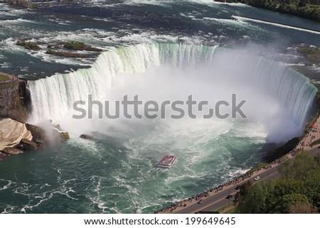 Horseshoe Falls, Niagara, Canada - stock photo