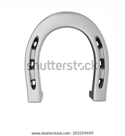 horseshoe isolated illustration - stock photo