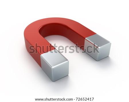 Horseshoe magnet - stock photo