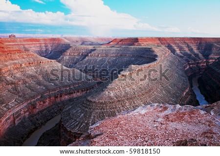 horseshoemonument valley canyon - stock photo