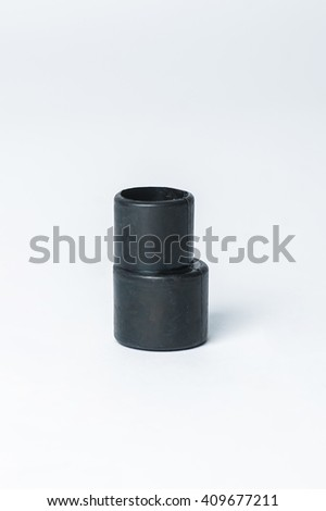 Hose Adapter, Studio Shooting, White Background - stock photo