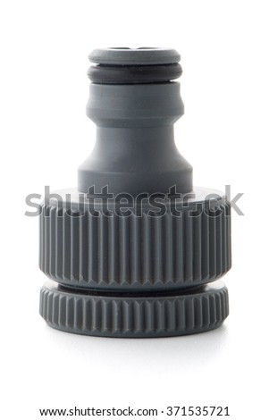Hose fitting adapter isolated on white background.