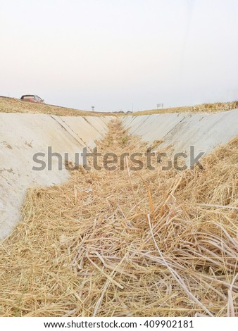 hose system without water El-Nino effect - stock photo