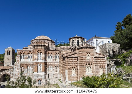 Hosios Loukas monastery in Greece - stock photo