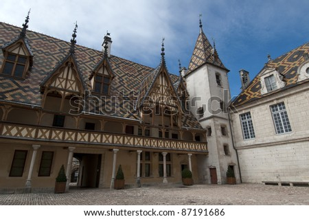 Hospices de Beaune in the Burgundy area in France.