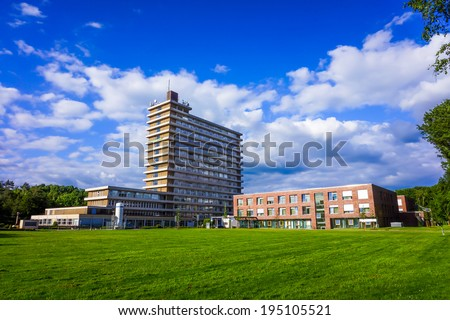 hospital building. - stock photo