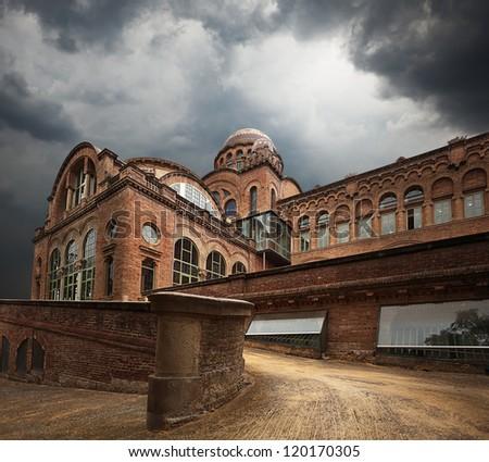Hospital de la Santa Creu i Sant Pau. Barcelona. Spain. - stock photo