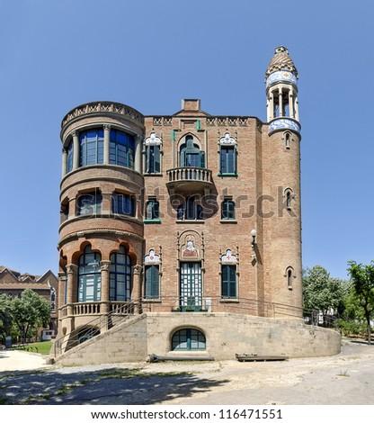 Hospital de la Santa Creu in Barcelona Spain - stock photo