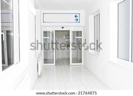 hospital hallway - stock photo
