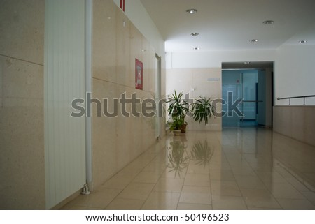 hospital indoors of a modern medical facility - stock photo