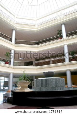 Hospital Interior - Entrance Hall - stock photo