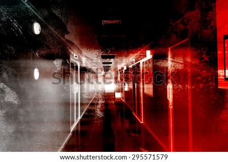 Hospital Of Horror,Scary Background For Book Cover And Movies Poster Project  - stock photo