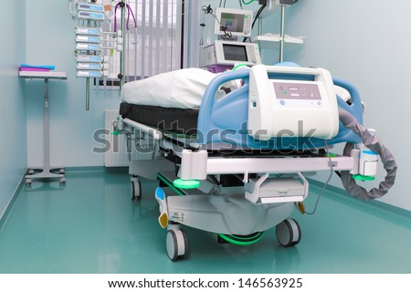 hospital room. the intensive care unit. - stock photo