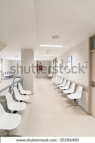 Hospital waiting room?s picture from Spain, Europe.