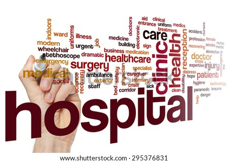 Hospital word cloud concept - stock photo