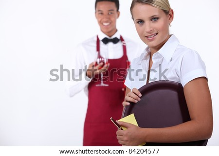 Hospitality workers - stock photo