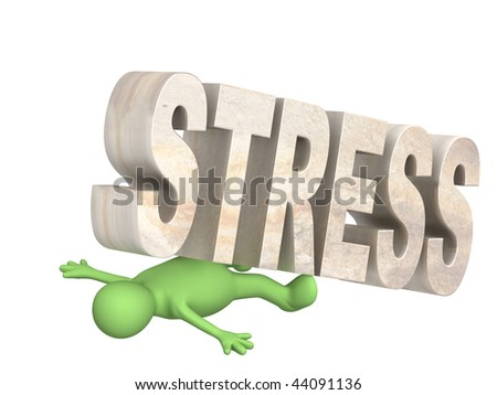 Hostage of the stress - stock photo