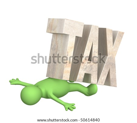 Hostage of the tax - stock photo