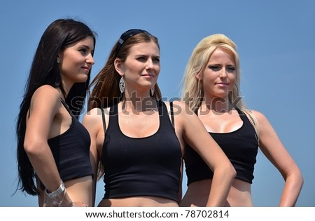 hostesses - stock photo
