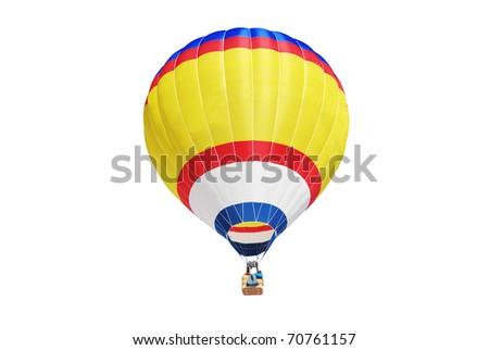 Hot air ballon - stock photo