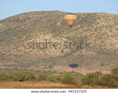Hot air balloon. - stock photo