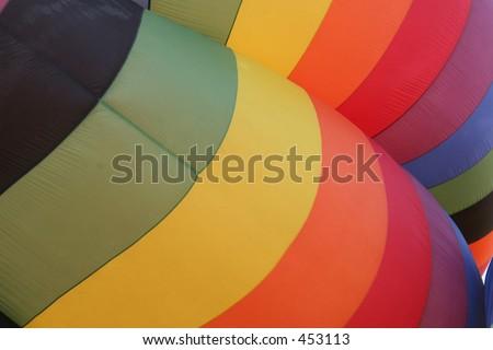 Hot Air Balloon Abstract - stock photo