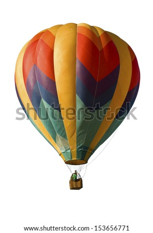 Hot-air balloon against a white background - stock photo