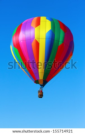 Hot air balloon against blue sky