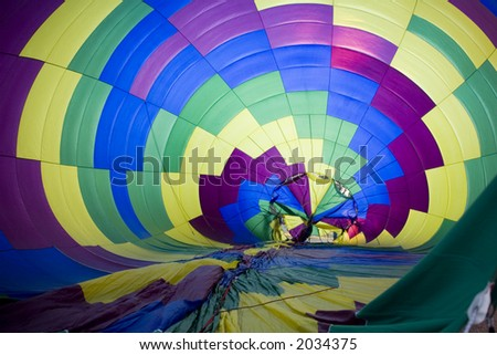 Hot air balloon being inflated at Balloonapalooza, Las Vegas, Nevada - stock photo