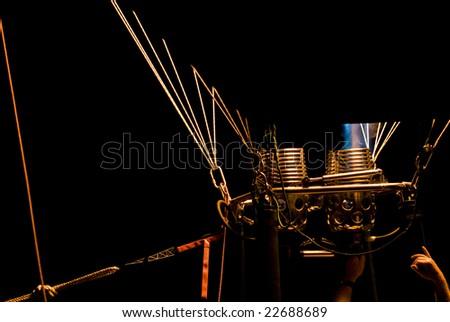 hot air balloon burner - stock photo