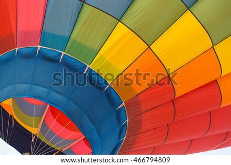 Hot air balloon close-up
