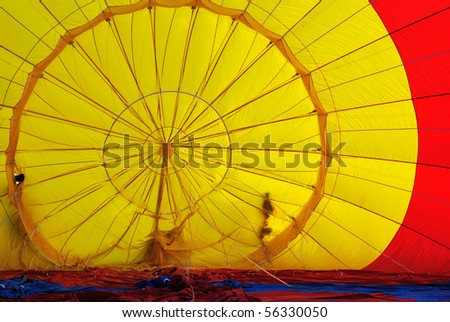 Hot-air balloon fabric texture - stock photo