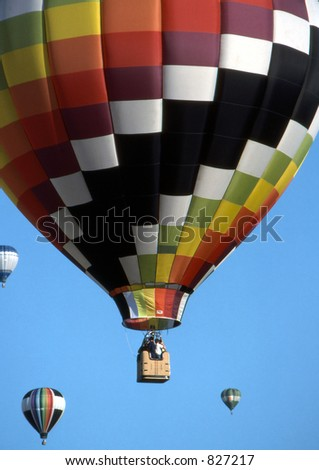 Hot air balloon festival in Ottawa, Ontario.